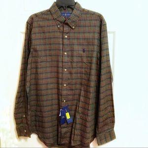 Polo Ralph Lauren Dark Green Plaid Shirt Men's LG